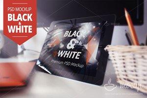 iPad 2 PSD Mockup Black&White
