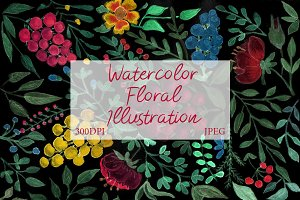 SALE! Watercolor Floral Art