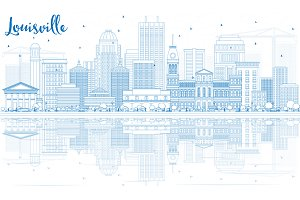 Outline Louisville Skyline