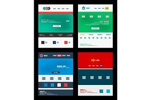 Vector web site schemes templates set