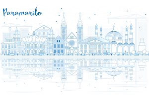 Outline Paramaribo Skyline