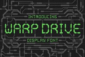 Warp Drive - Display font - 2 styles
