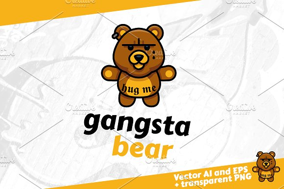 Gangsta Bear Gangster Bear Logo