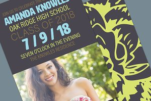 Graduation Invite Mockup