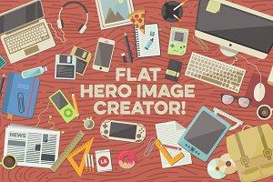 Flat Hero Image Creator