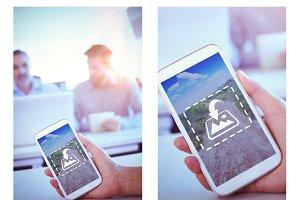 Using Phone Outdoors Mockup