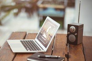 Laptop At Desk Mockup