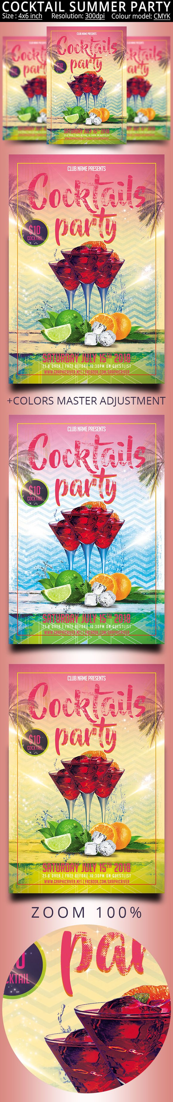 Cocktail Summer Party Flyer