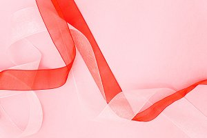 Pink, Red & White Background