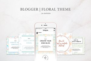 Blogger | Floral Theme