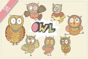 Funny owls.