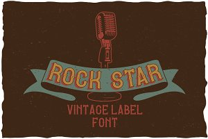 Rock Star Vintage Label Typeface