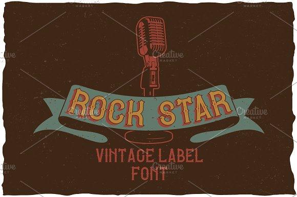 Rock Star Vintage Label Typeface