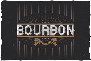 Bourbon Vintage Label Typeface