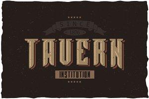 Tavern Vintage Label Typeface