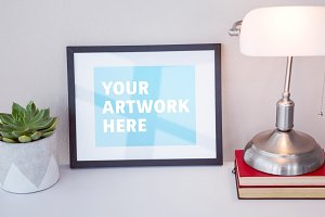 Mockup Of Picture Frame On Desk