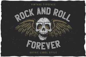RockAndRoll Vintage Label Typeface