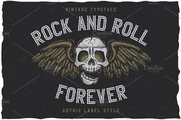 RockAndRoll Vintage Label Typeface