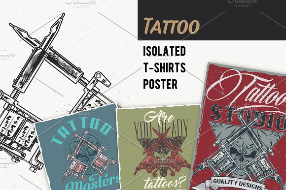Tattoo T-shirts And Poster Labels