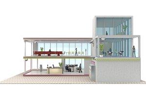 office building cutaway