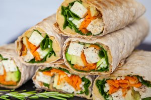 tofu tortilla wraps