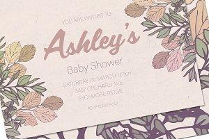 Baby Shower Invitation Mockup