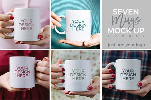 Coffee Mugs Mock Up Bundle