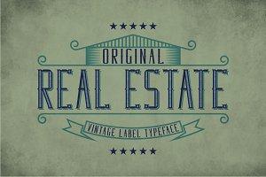 Real Estate Vintage Label Typeface