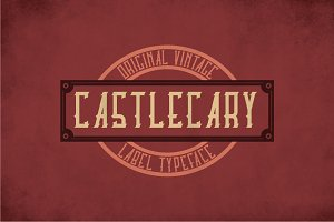 Castlecary Vintage Label Typeface