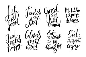 Food lettering, 8 quotes
