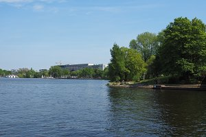 Aussenalster (Outer Alster lake) in Hamburg
