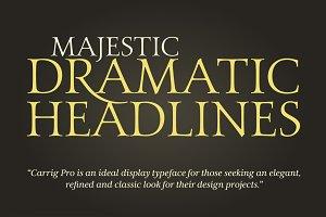 Carrig Pro – 12 Elegant Serif Fonts