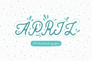 April—handwritten font