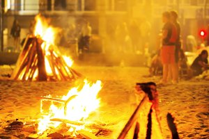 people in bonfires party