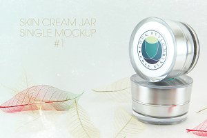 Skin Cream Jar Single Mockup #1