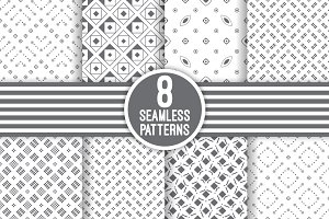 8 vector seamless patterns