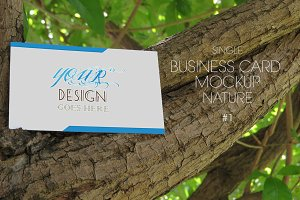 Business Card Mockup Nature #1