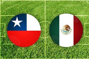 Chile vs Mexico football match