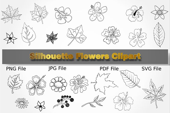 Doodles Flower Clipart Collection