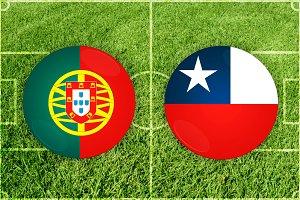 Portugal vs Chile football match