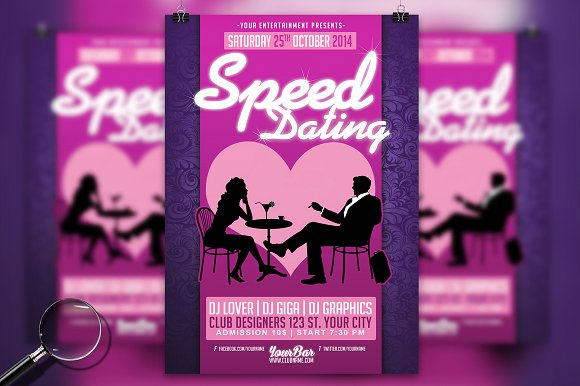 Speed Dating Modern Flyer Template