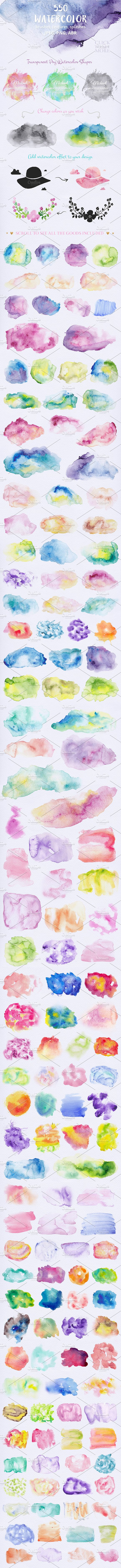 Watercolor Textures Bundle in Textures - product preview 1