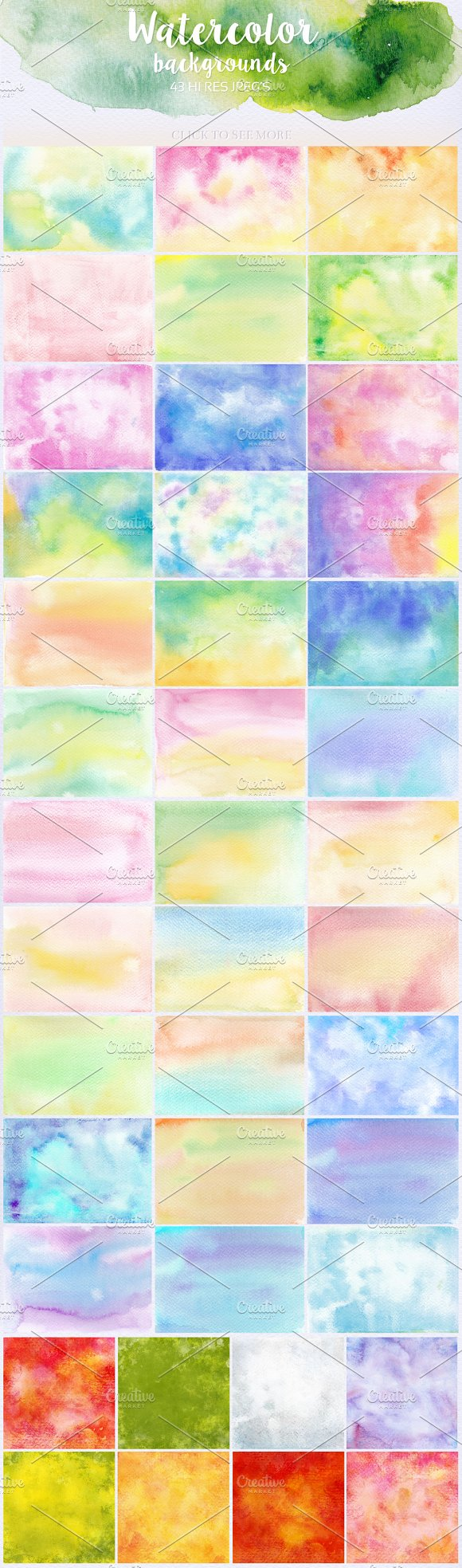 Watercolor Textures Bundle in Textures - product preview 4