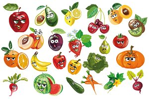 Fruits, berries, vegies