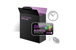 Black Glossy Package Box With Disk
