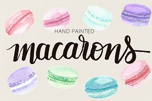 Macarons - French Cookie Watercolor