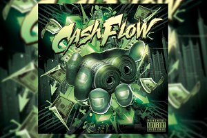 Cashflow Mixtape CD Cover Template