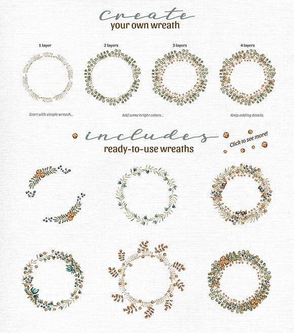 Rustic Wreath Creator Illustrations Creative Market