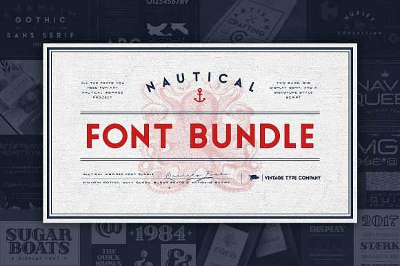 VTCs Nautical Font Bundle