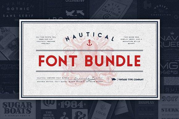 VTCs Nautical Font Bundle